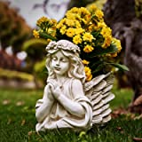 Angel Wing Head Planter Hand Made Hand Painted