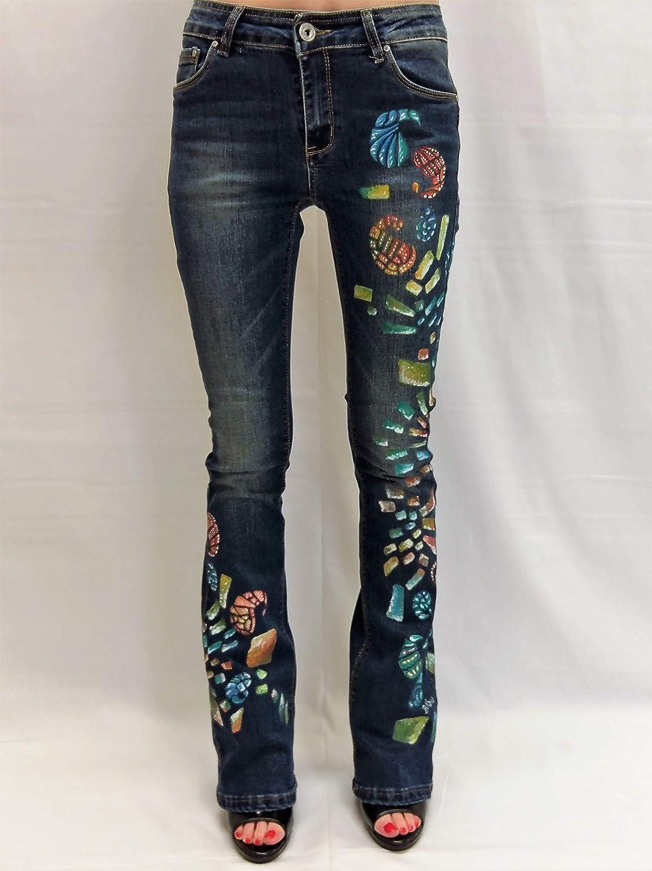 Jeans mujer a pata efecto push up vaqueros acampanados ...