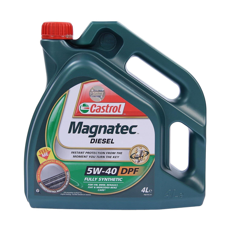 Aceite para motor diésel Castrol Magnatec 5W-40 DPF 31783296, dos de 4 l=8 litros: Amazon.es: Coche y moto