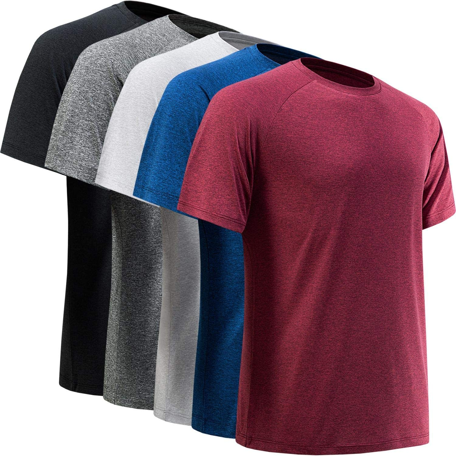 BALENNZ Workout Shirts for Men, Moisture Wicking Quick Dry Active Athletic Men's Gym Performance T Shirts: Clothing