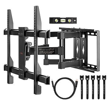 Perlegear Full Motion TV Wandhalterung Mit Zwei Gelenkarm Für Die Meisten  37 70 Zoll LED