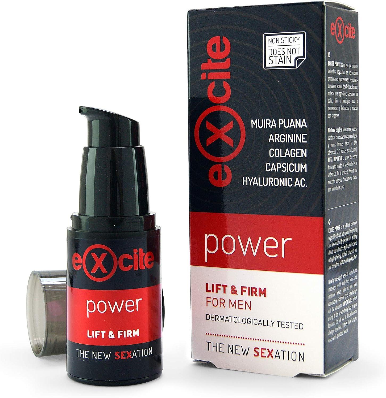 EXCITE Power Gel estimulante potenciador masculino a base de extractos vegetales. 15 ml. ¡Más firme y durante más tiempo!