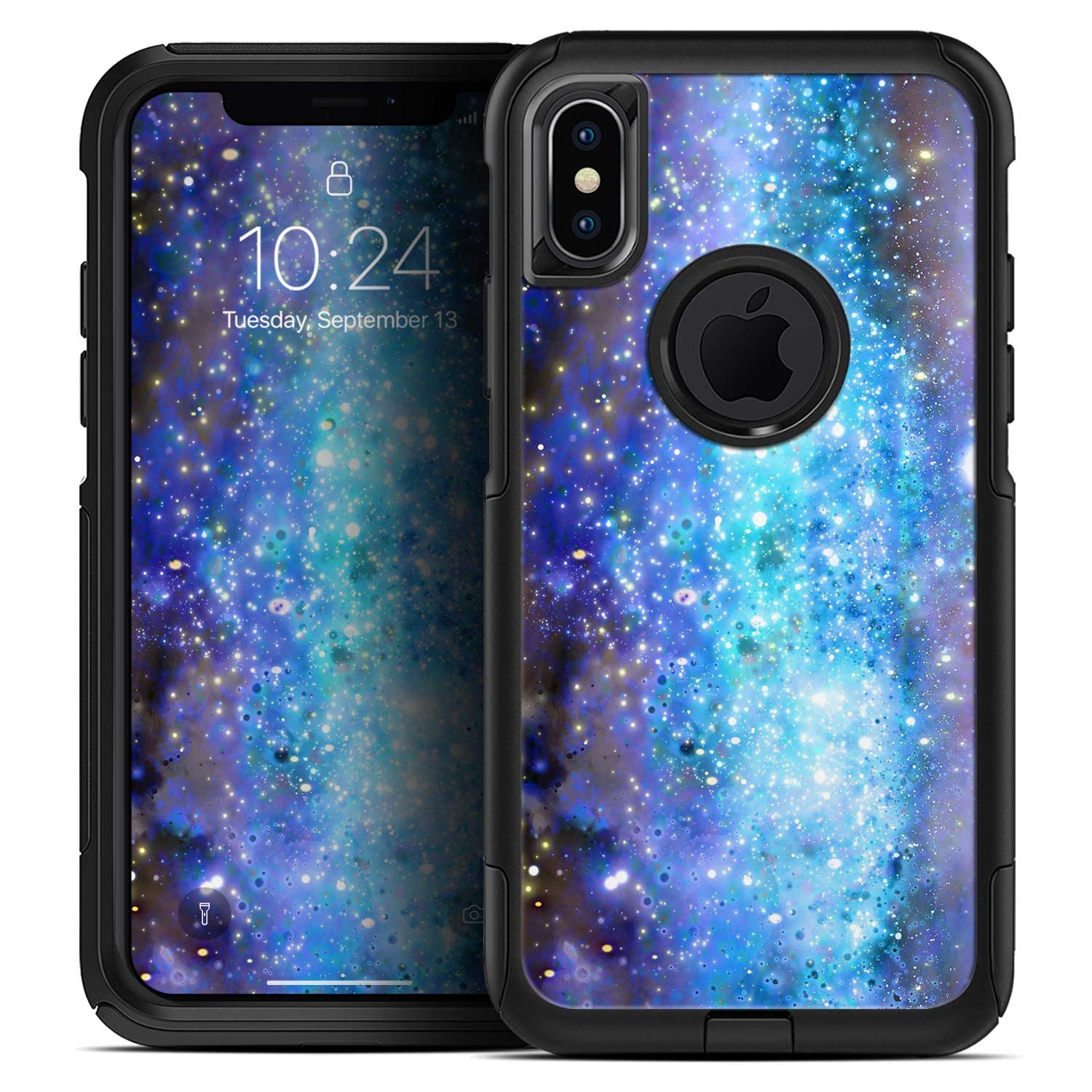 Glowing Space Texture - Skin Decal Kit for The iPhone Xs Max OtterBox Defender Case iiRov