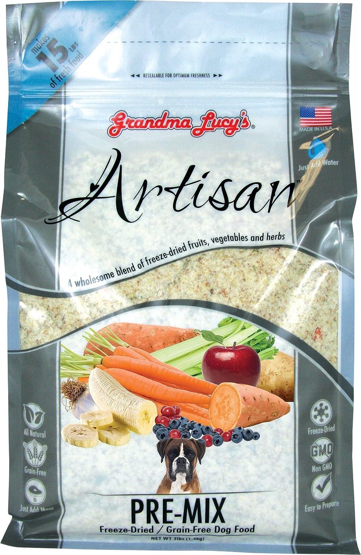 Grandma Lucy's Artisan Pre-Mix Dog Food, Grain Free and Freeze-Dried - 3Lb Bag