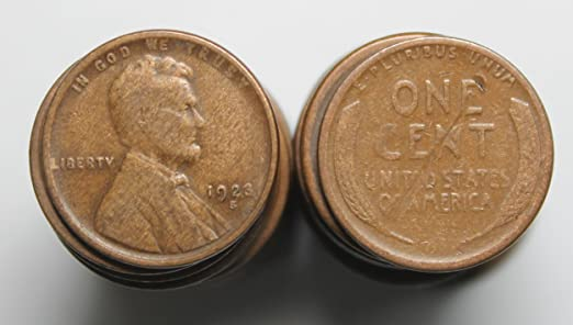 1947-S Lincoln Wheat Cents 50 coins 1 ROLL