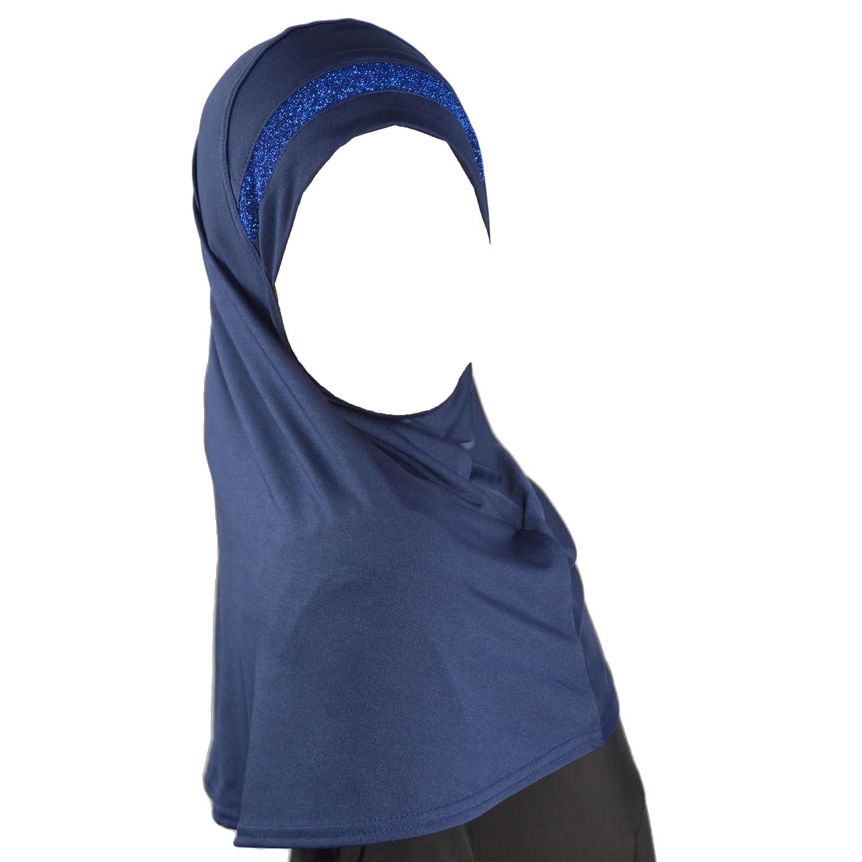 Children instant headscarf hijab Al Amira with glitter borde