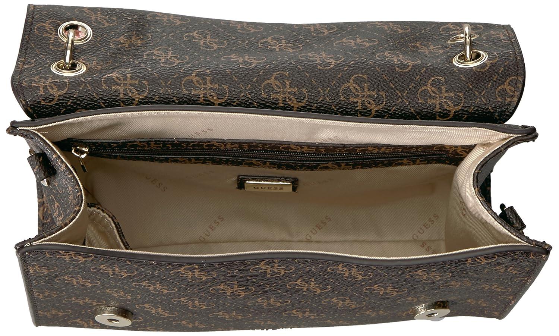 6949f01127 GUESS Eden Logo Top Handle Flap  Amazon.co.uk  Shoes   Bags