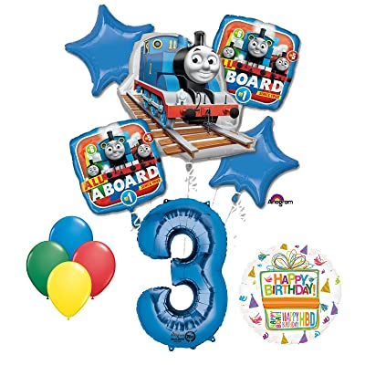 Mayflower Products The Ultimate Thomas The Train Engine 3rd Birthday Party Supplies and Balloon Decorations: Toys & Games