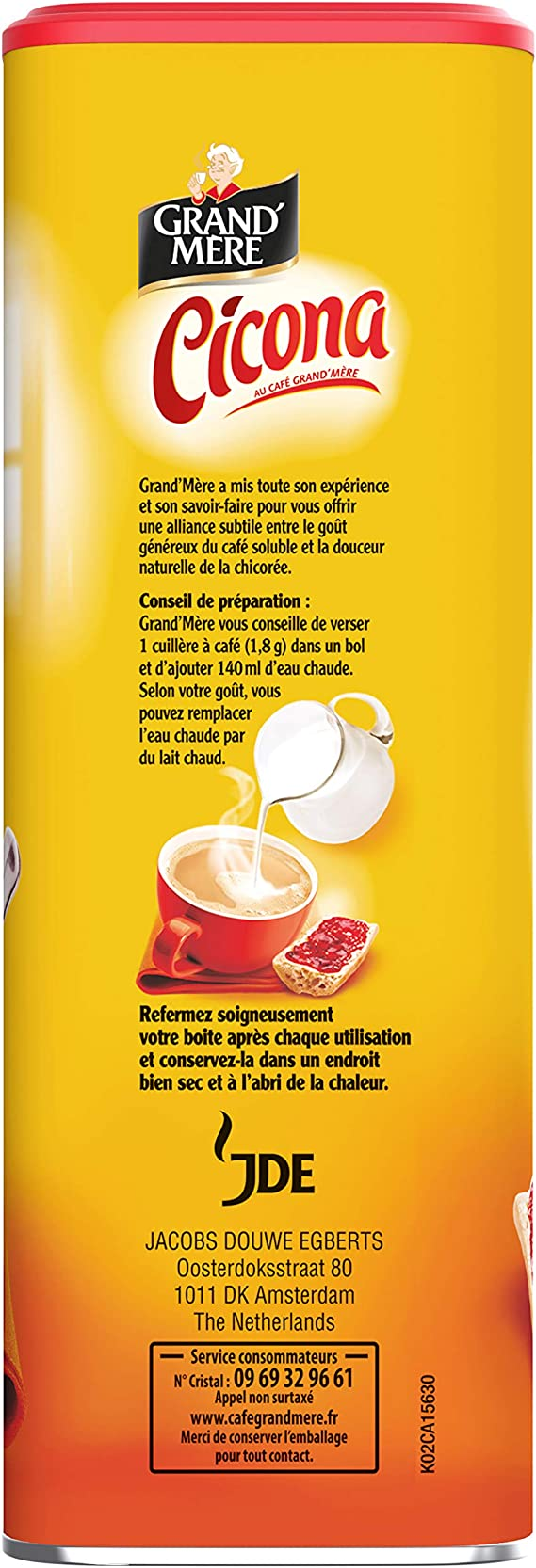Grand Mère Chicorée Coffee Cicona 250g from France: Amazon.es: Alimentación y bebidas
