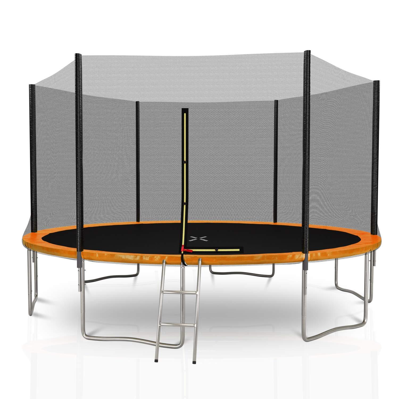 Générique Outsidefun - Trampolino da Giardino TUV con Rete Esterna, Diametro 400 cm, 6 aste, colore a Scelta, Arancione