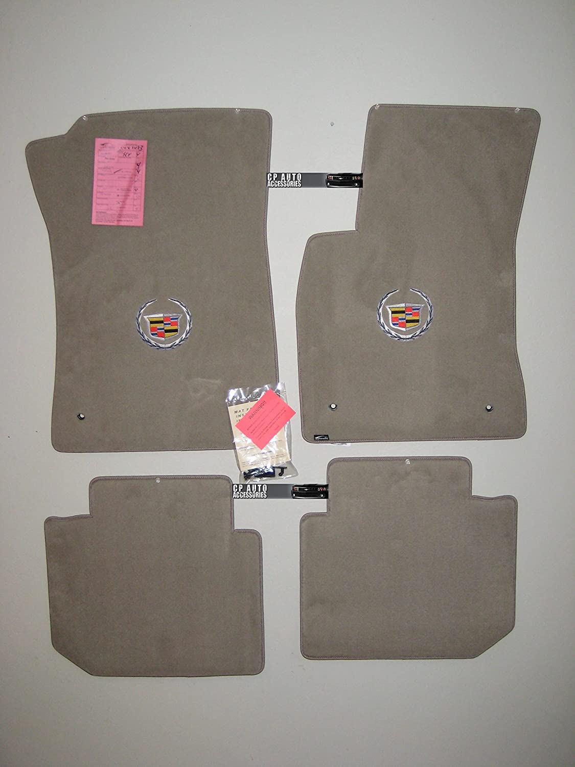 Amazon.com: Cadillac Deville DHS DTS Grey Floor mats with Silver ...