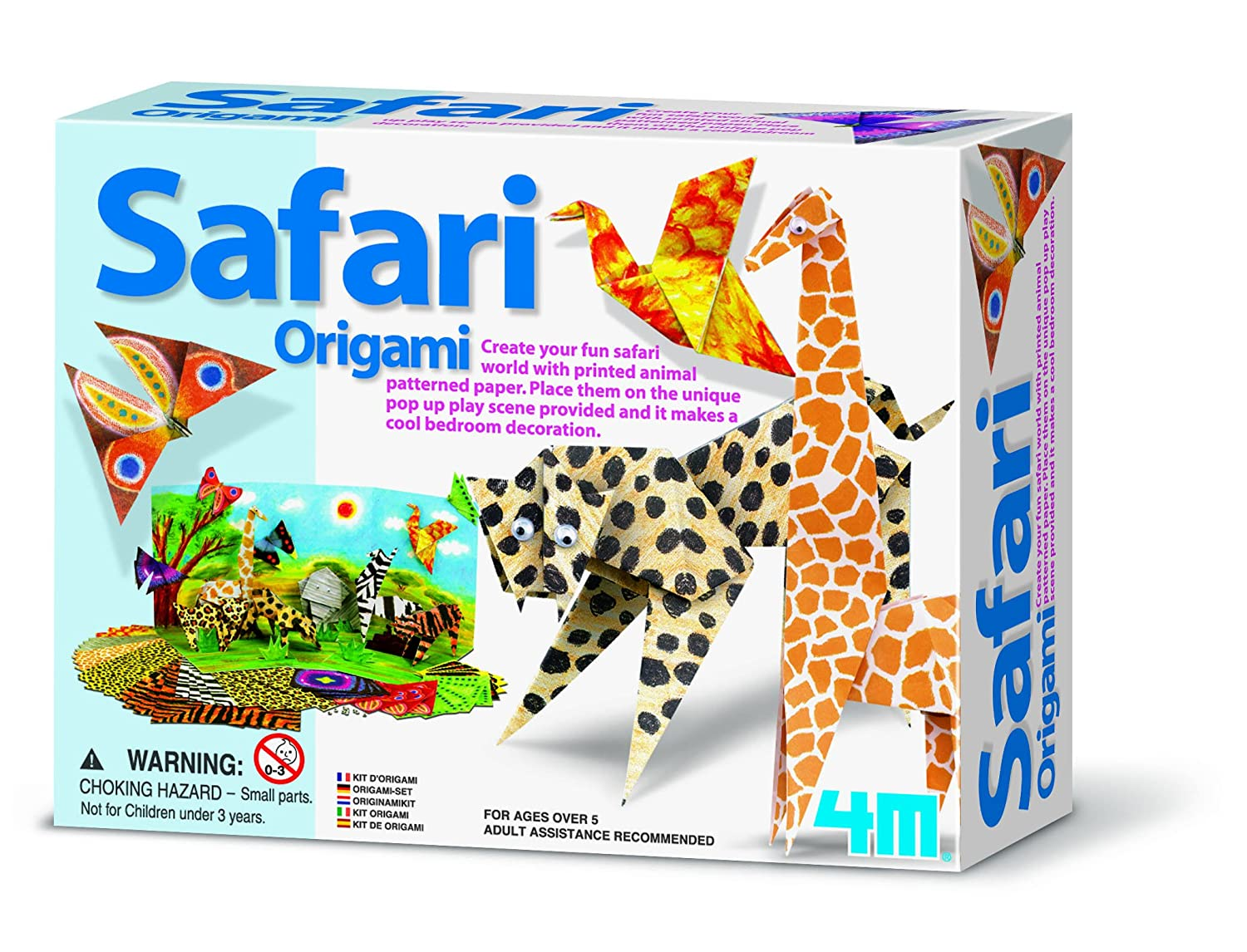 4M Safari Animals Origami Amazoncouk Toys Games