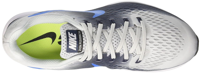 86cc86171808 Nike Men s s Air Zoom Pegasus 34 Running Shoes White Blue  Amazon.co.uk   Shoes   Bags
