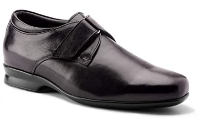 0280820d099 DE SCALZO Black Leather Velcro Closure Orthopedic Diabetic Shoes for Men   Buy Online at Low Prices in India - Amazon.in