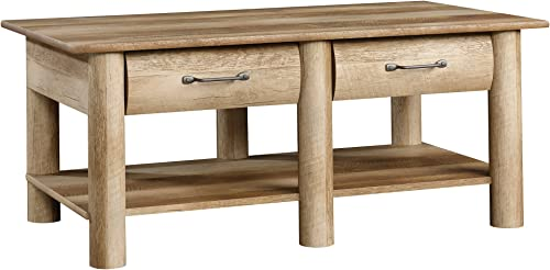 Sauder Boone Mountain Coffee Table, Craftsman Oak Finish