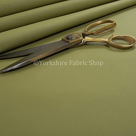 Quality New Olive Green Faux Leather Durable Upholstery Fabric Soft Leatherette