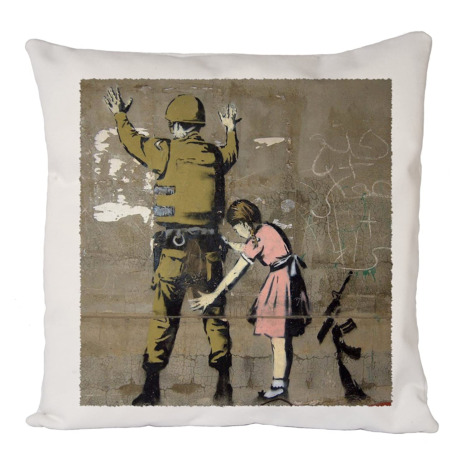 Banksy Soldier Girl, Pillow Case, Cushion Cover, Home Sofa Décor Uk print king