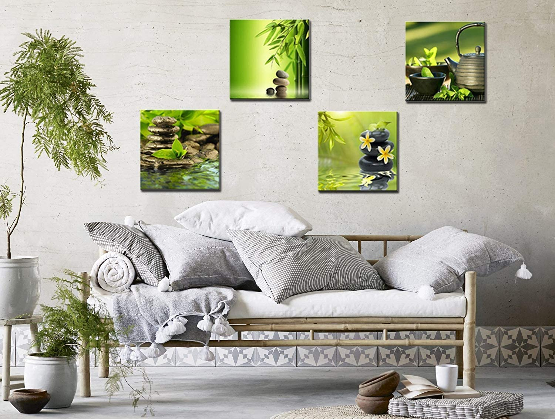/Design Alberi Stampe su Tela Fallen Leaves Immagini Painting Great Home Decor Gift for Friends 12/x 12INX4PCS CUFUN Art/