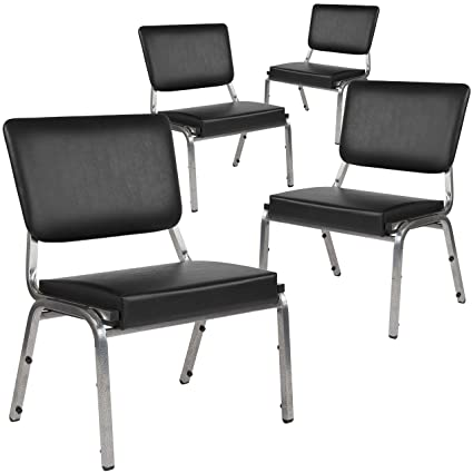 Surprising Flash Furniture 4 Xu Dg 60442 660 2 Bv Gg Bariatric Chairs 4 Pack Black Vinyl Inzonedesignstudio Interior Chair Design Inzonedesignstudiocom