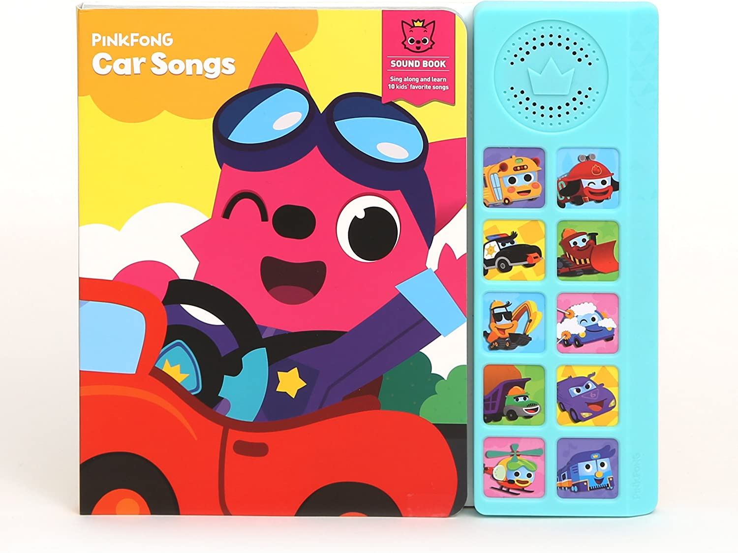 "Pinkfong Children's Car Songs Sound Book, 8.7"" x 7.8"", Yellow/SkyBlue"