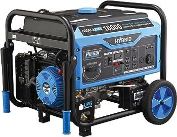 Pulsar Non-CARB 10,000W Dual Fuel Electric Start portable generator
