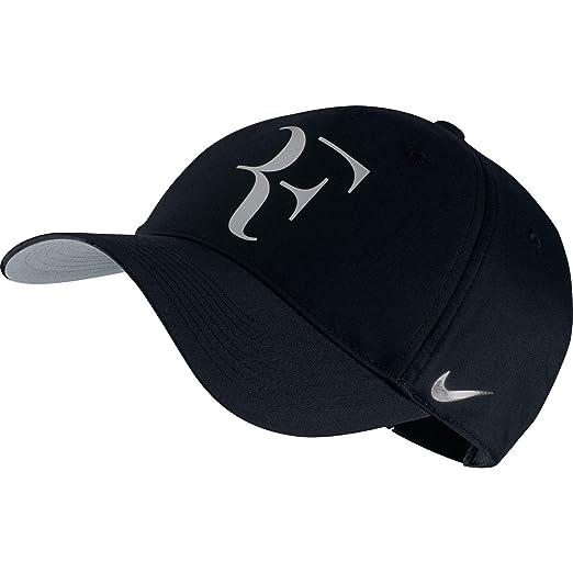 6760e1905bc Nike Mens Roger Federer RF Iridescent Pro Hat Black Metallic Silver  835536-011