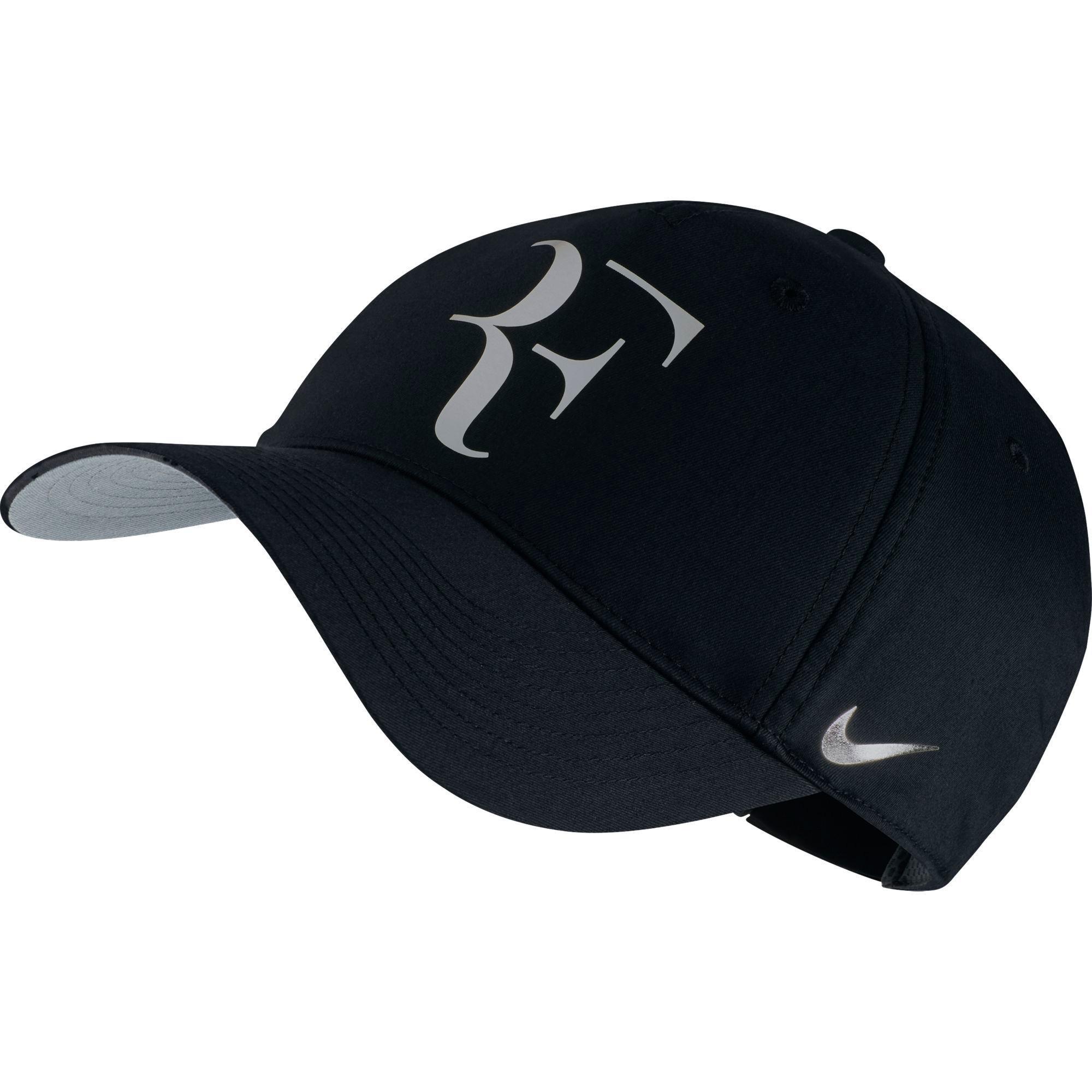 Nike Mens Roger Federer RF Iridescent Pro Hat Black/Metallic Silver 835536-011