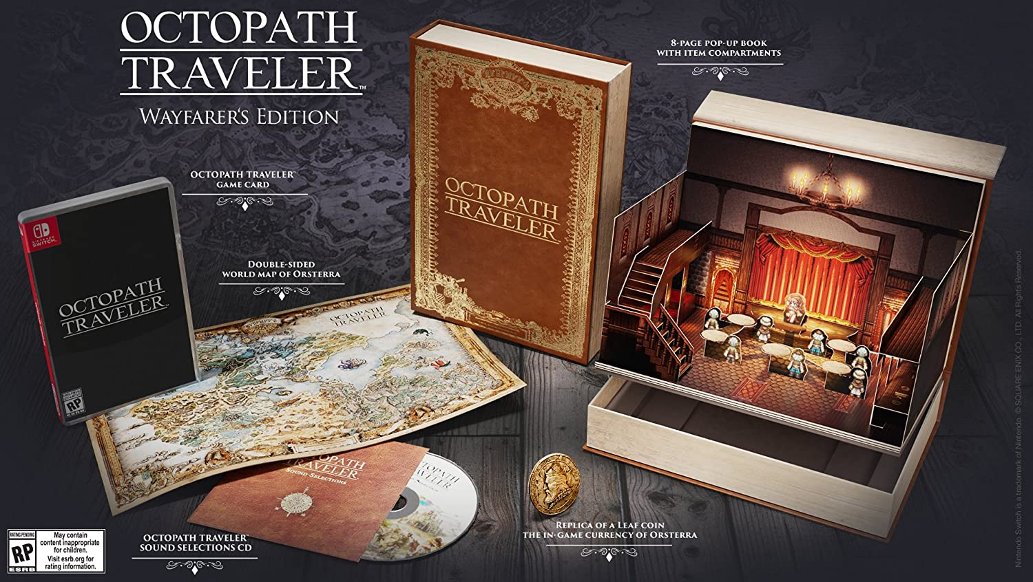 Amazon Com Octopath Traveler Wayfarer S Edition Nintendo Switch