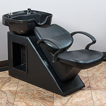 Qualified Adjustment Black Backwash Barber Shampoo Chair Bowl Sink Spa Unit Station Beauty Backwash Units & Shampoo Bowls