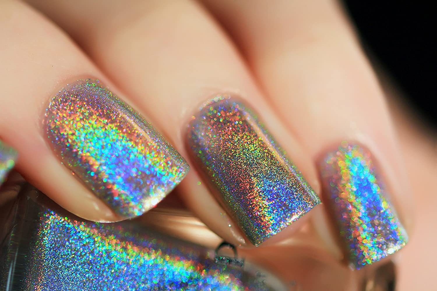 Amazon.com : ILNP MEGA (S) - Scattered Holographic Nail Polish : Beauty