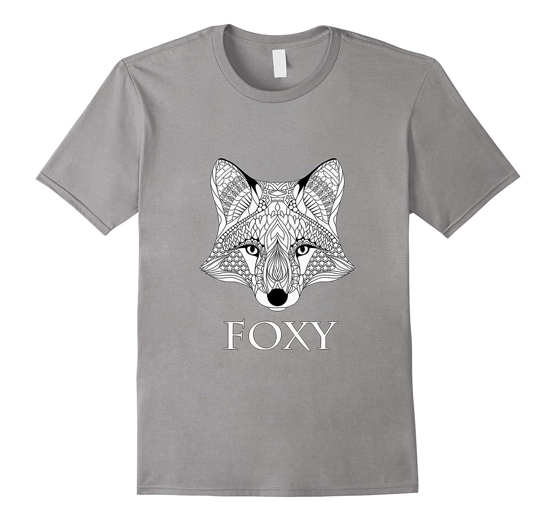 Foxy Fox Adult coloring shirt-RT