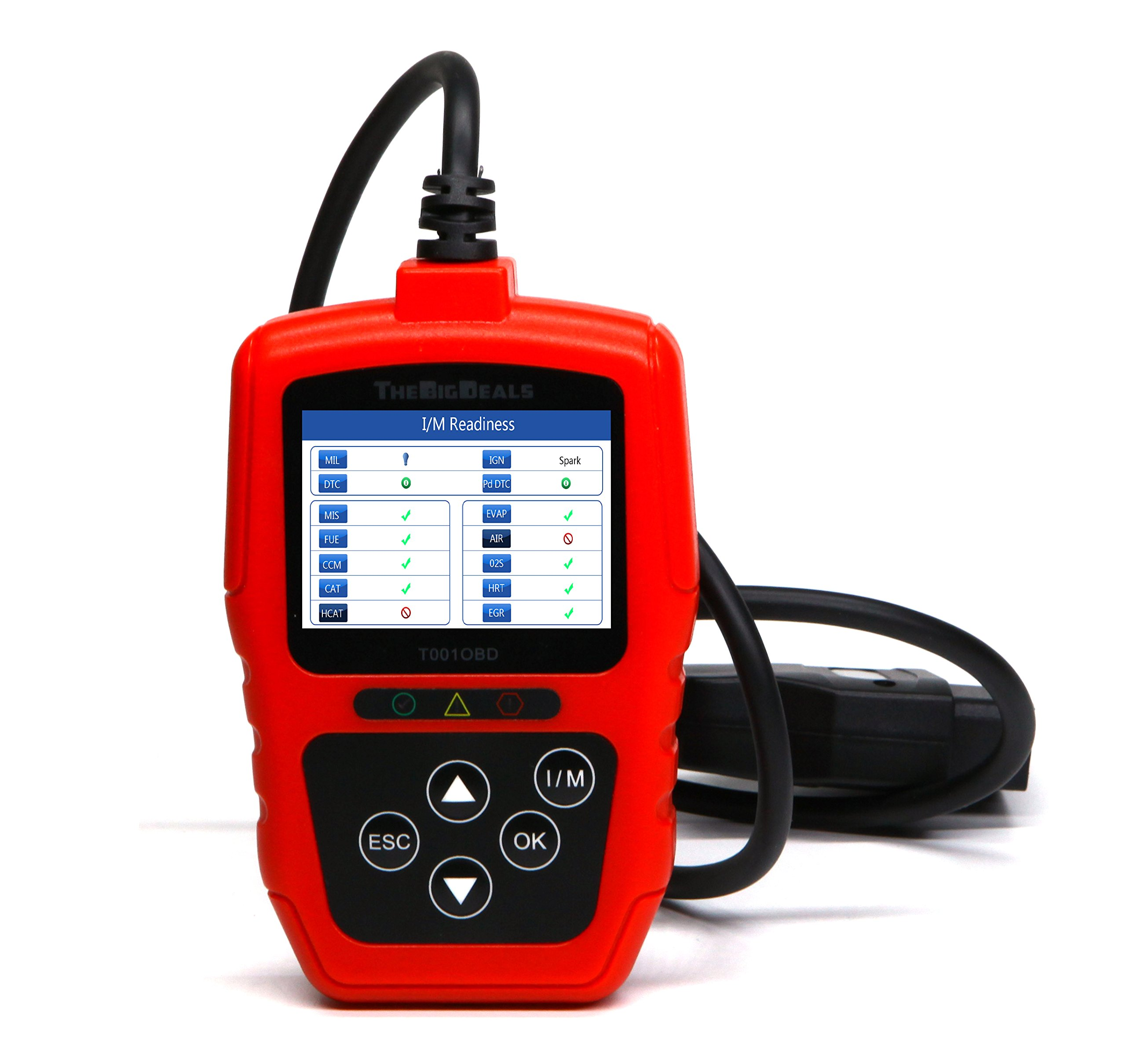 THEBIGDEALS T001OBD OBD II Scanner Car Engine Fault Code Reader CAN Diagnostic Scan Tool OBD2 scanner