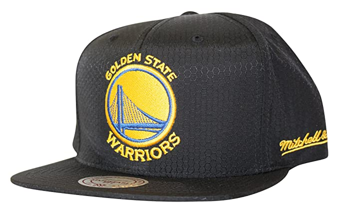 online store 5ac9d f2345 Image Unavailable. Image not available for. Colour  Mitchell And Ness Men s  NBA Golden State Warriors Black Ripstop Honeycomb Snapback Hat
