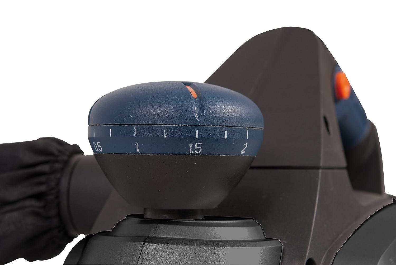 FERM Rabot /électrique 650W Incl guide parall/èle et sac /à poussi/ère R/églage de la profondeur