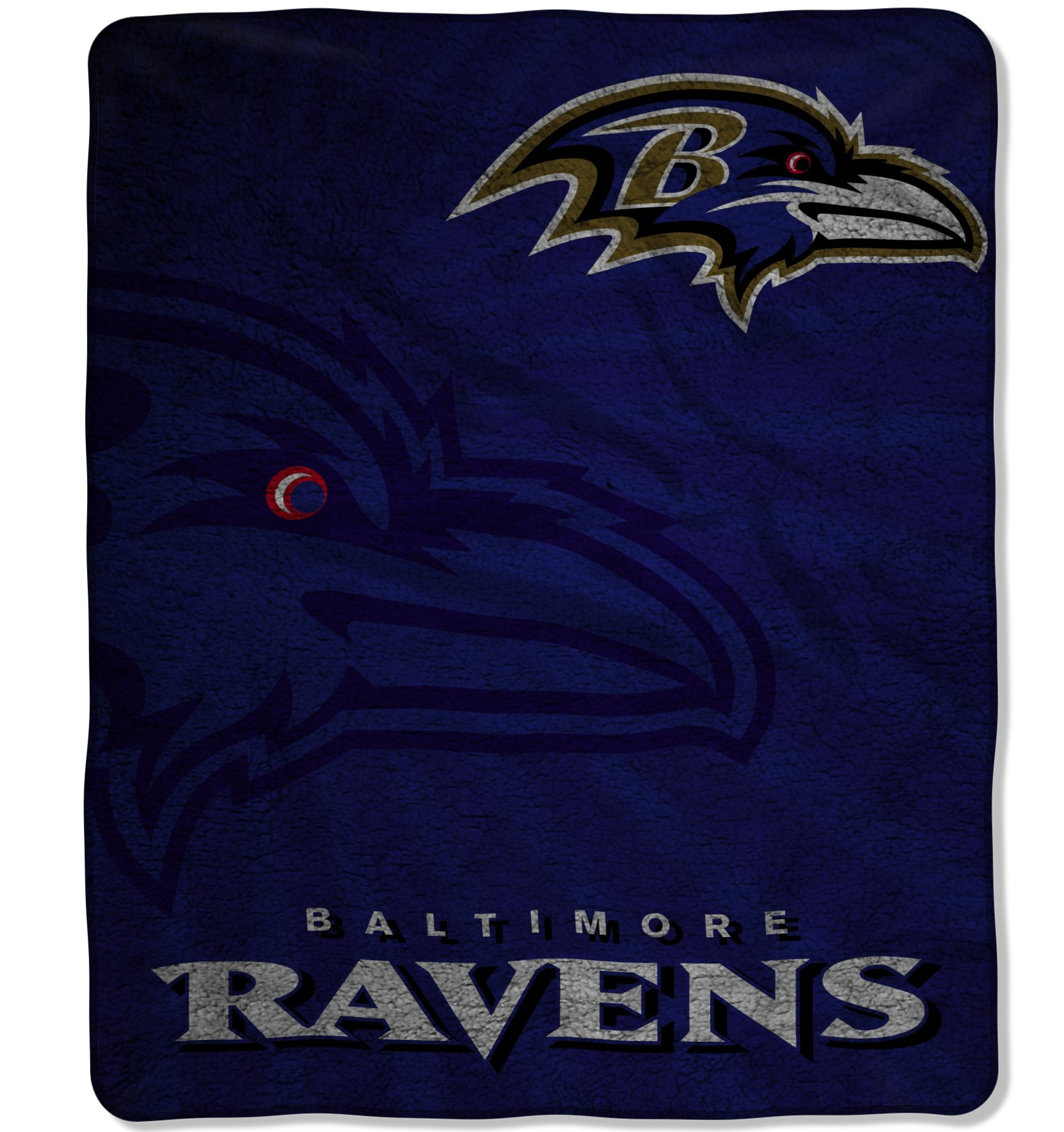 The Northwest Company Officially Licensed NFL Baltimore Ravens Strobe Sherpa on Sherpa Throw Blanket, 50'' x 60'', Multi Color by The Northwest Company