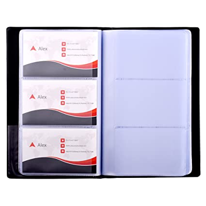 Amazon maxgear business card book holder journal business maxgear business card book holder journal business card organizer professional pu leather name card colourmoves