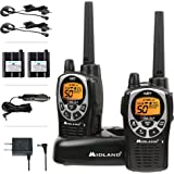 Midland 50 Channel Waterproof GMRS Two-Way Radio - Long Range Walkie Talkie with 142 Privacy Codes, SOS Siren, and NOAA Weath