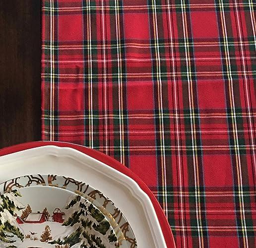 Plaid Christmas Table Runner, Royal Stewart Tartan Table Runner, Handmade  Classic Red Plaid Table