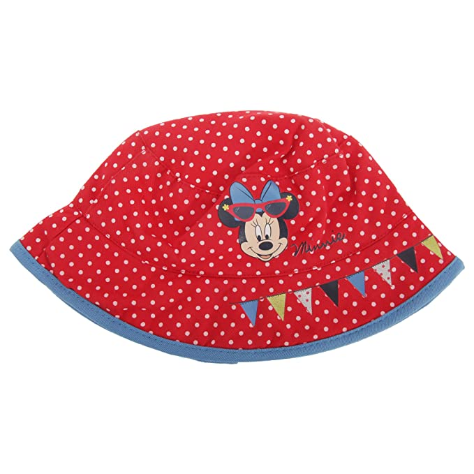 ea58a3d2cd7 Disney Minnie Mouse Childrens Girls Polka Dot Bucket Hat (1-3 Years ...