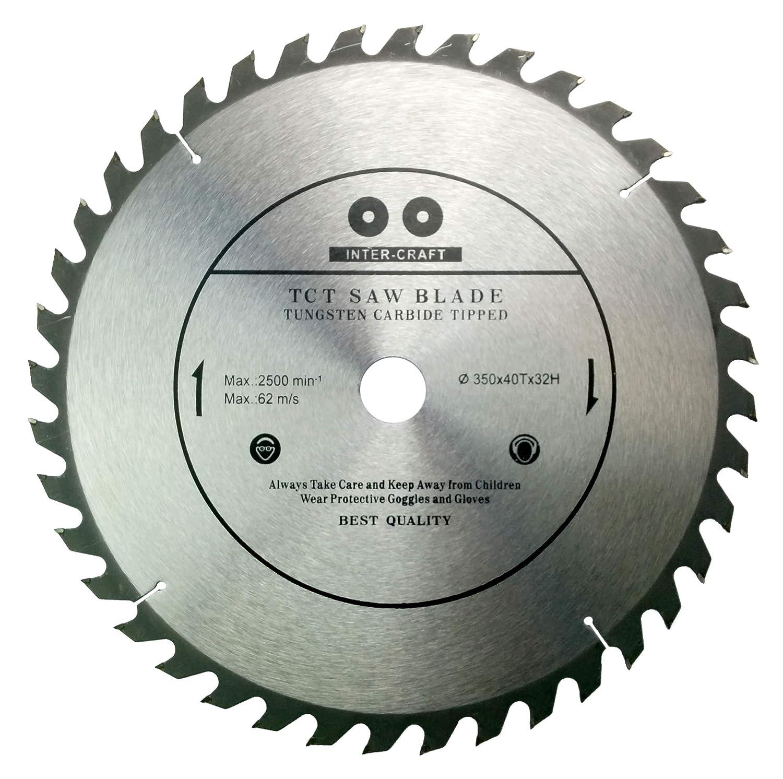 Inter-Craft - Lama per sega circolare per legno, 350 x 32-30 mm, 40 denti