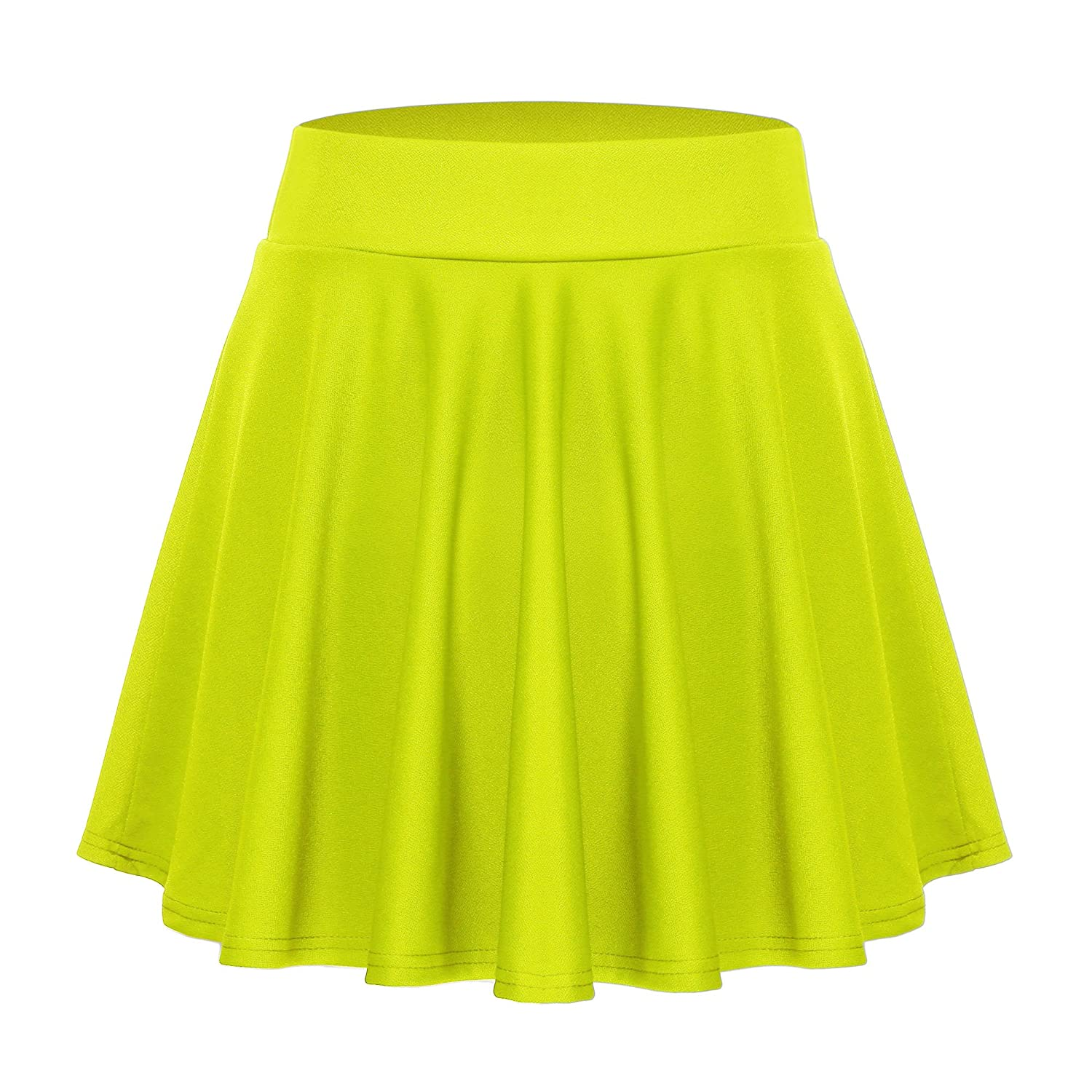 ACEVOG Women's Casual Basic Versatile Stretchy Waist Flared Mini Skater Skirt