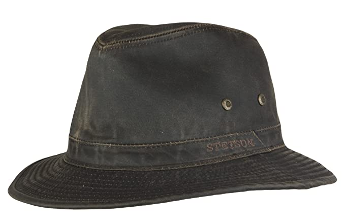 e11346abc32 Stetson Ava Distressed Cotton Traveller Hat  Amazon.co.uk  Clothing