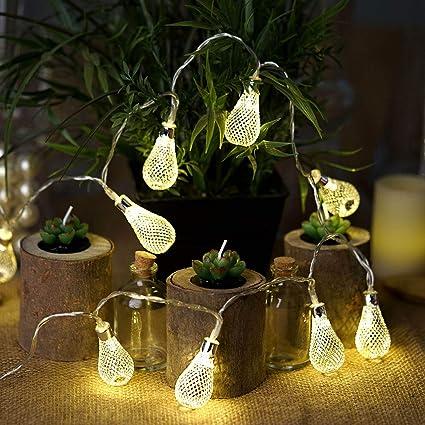 Amazon.com: BalsaCircle – Guirnalda de luces LED de plata de ...