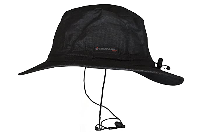 036c17ec79bbe Amazon.com   COMPASS 360 RainTek Waterproof Boonie Hat (Black ...