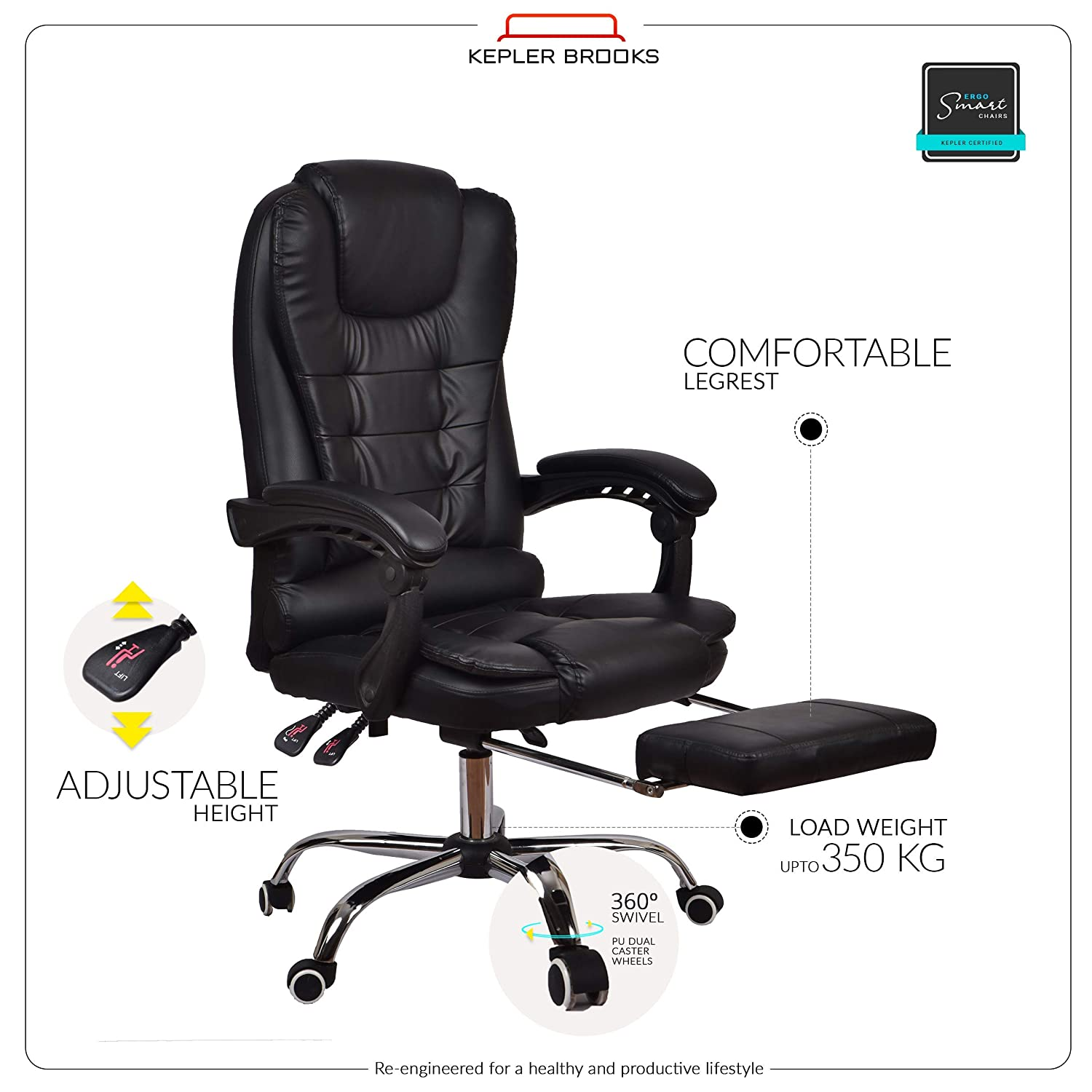 Admirable Kepler Brooks Italia High Back Reclining Leatherette Office Pabps2019 Chair Design Images Pabps2019Com