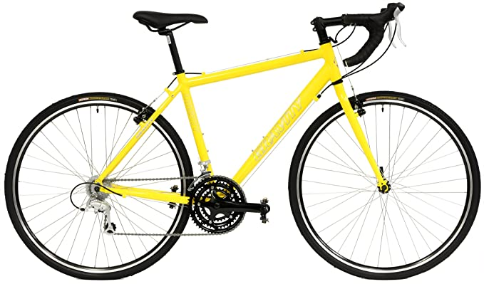 "Gravity Liberty CX 24 Speed Aluminum Cyclocross Bike (Yellow, 58cm fits 6'0"" up to 6'7"") best cycle-cross bikes"