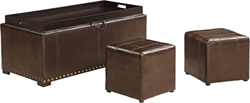 AC Pacific 2 Side Ottomans Storage Bench