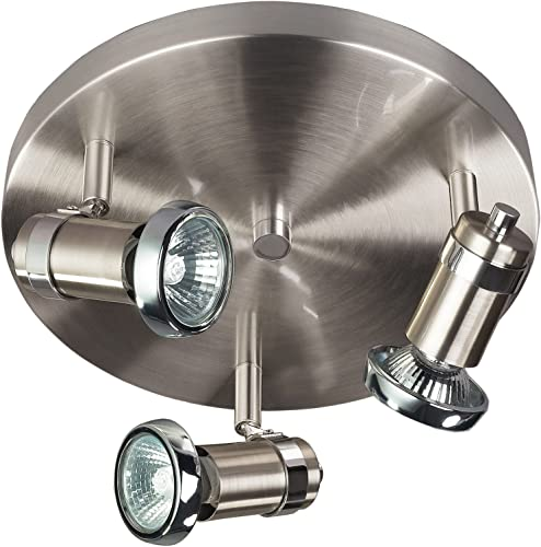 CANARM LTD. ICW391A03BCH10 Shay 3 Bulb Ceiling Wall Light, Brushed Pewter