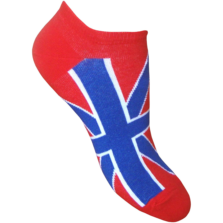 3 Pair Pack Ladies /& Youths Union Jack Great Britain Summer Trainer Socks