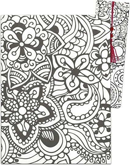- Adult Coloring Journal ~ 6 X 8 Lined Notebook With Anti-Stress Coloring  Pages And Bonus Coloring Bookmark ~ Doodle Diary For Kids Teens Adults  Relaxation (Mendi): Amazon.co.uk: Office Products